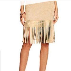 NWT Gianni Bini Tan Fringe Skirt
